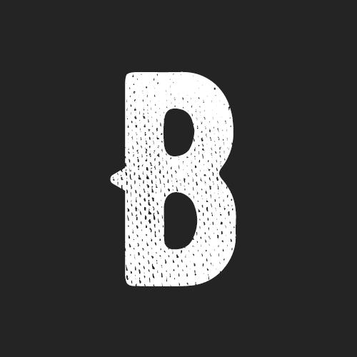 Letra B de la tipografía Bernier